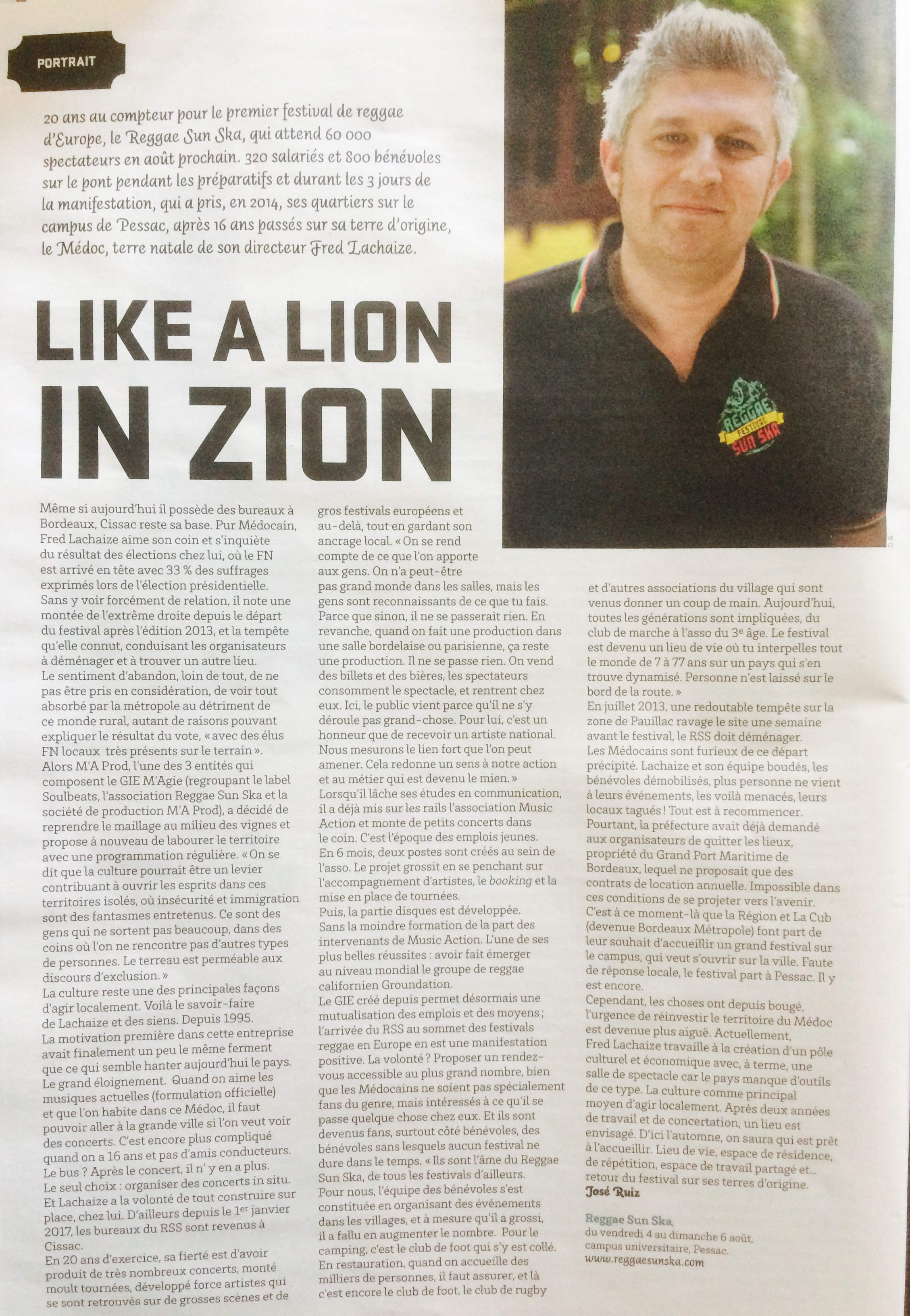 A lion in Zion